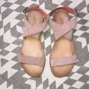 Urban outfitters light pink strapped sandals